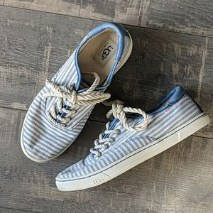 Ugg Eyan II Canvas Sneakers Striped White BX181